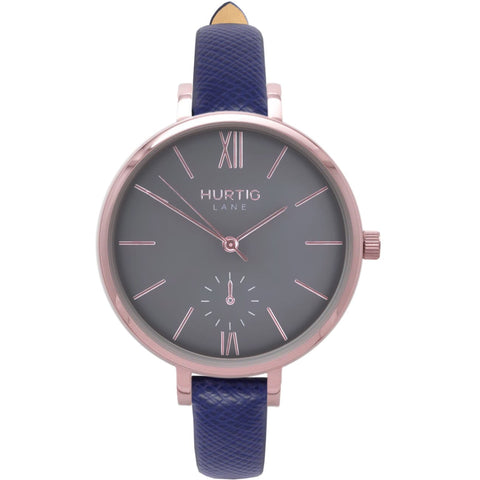 Amalfi Womens Watch - Rose Gold / Grey / Blue - Watch
