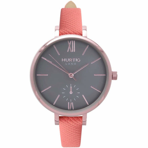 Amalfi Womens Watch - Rose Gold / Grey / Coral - Watch
