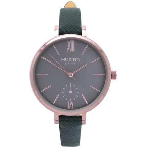 Amalfi Womens Watch - Rose Gold / Grey / Green - Watch