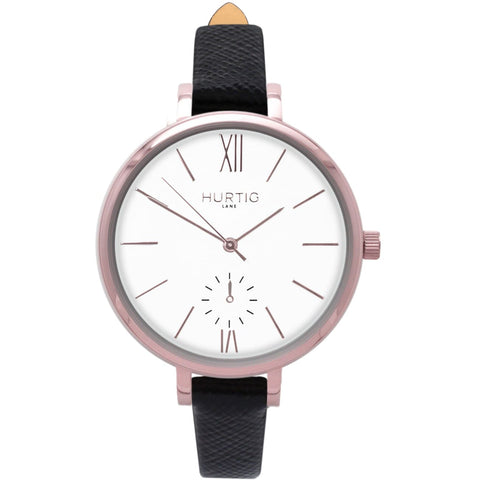 Amalfi Womens Watch - Rose Gold / White / Black - Watch