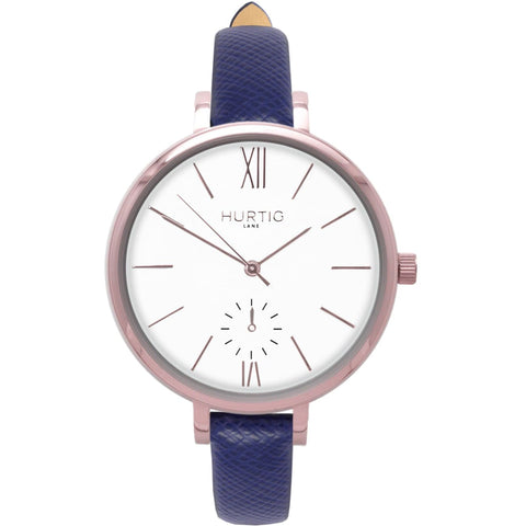 Amalfi Womens Watch - Rose Gold / White / Blue - Watch