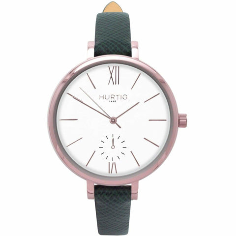 Amalfi Womens Watch - Rose Gold / White / Green - Watch