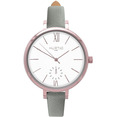 Amalfi Womens Watch - Rose Gold / White / Grey - Watch