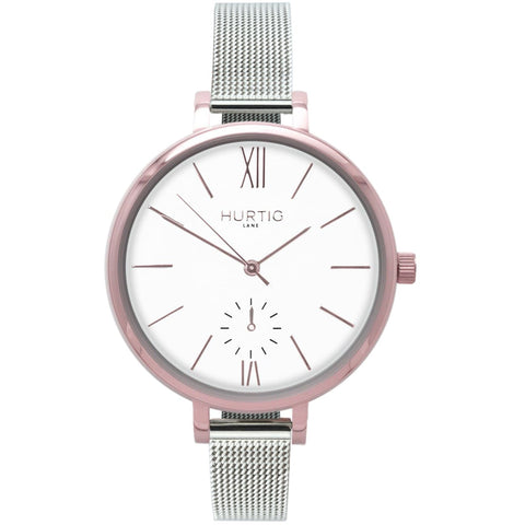 Amalfi Womens Watch - Rose Gold / White / Silver - Watch