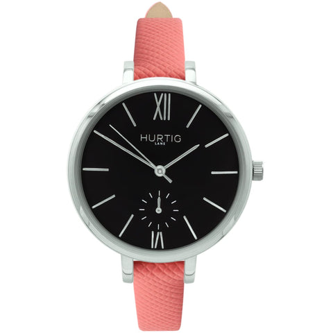 Amalfi Womens Watch - Silver / Black / Coral - Watch