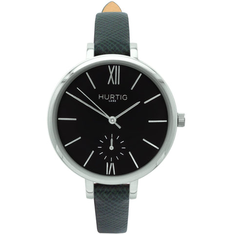 Amalfi Womens Watch - Silver / Black / Green - Watch