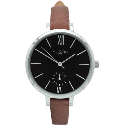 Amalfi Womens Watch - Silver / Black / Tan - Watch