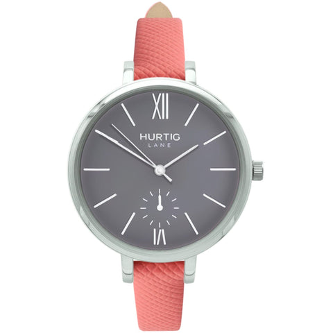 Amalfi Womens Watch - Silver / Grey / Coral - Watch