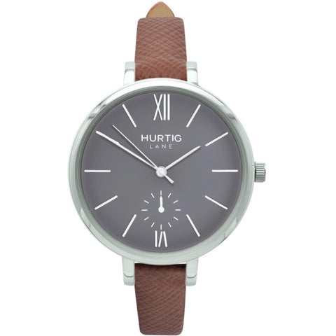 Amalfi Womens Watch - Silver / Grey / Tan - Watch