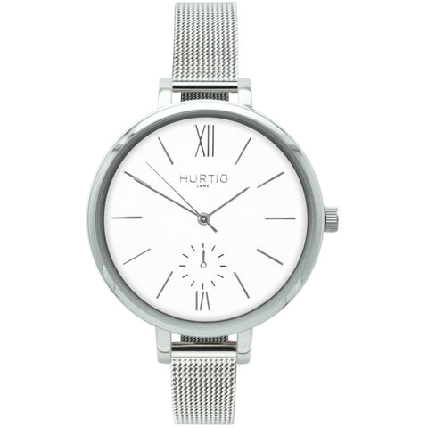 Amalfi Womens Watch - Silver / White / Silver - Watch