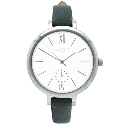 Amalfi Womens Watch - Silver / White / Green - Watch