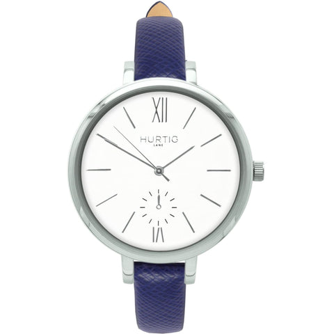 Amalfi Womens Watch - Silver / White / Marine Blue - Watch