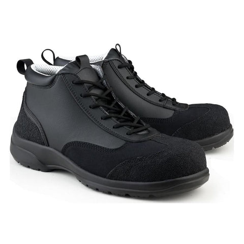 Ankle Boot Safety S3-SRC Black/Black Trim - Boots