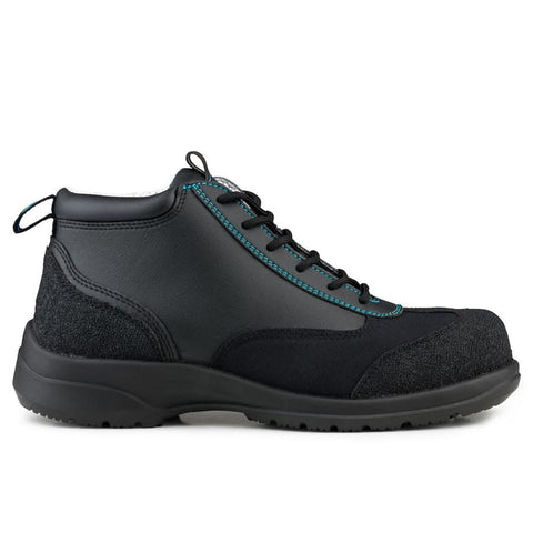 Ankle Boot Safety S3-SRC Black/Blue Trim - Boots