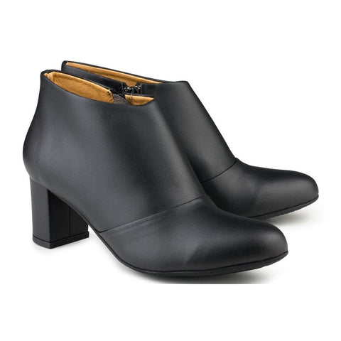 Anna Bootee Black - Wide Fit - Boots