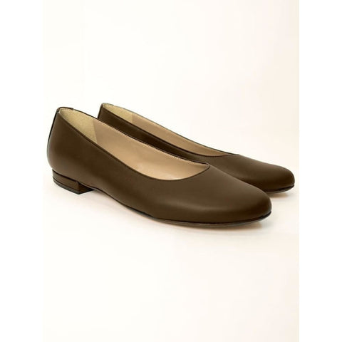Ballerina Flats - Dark Brown - Shoes
