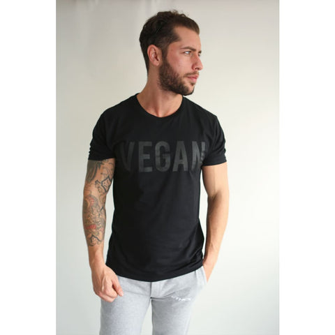 BLACK VEGAN TEE - Tee