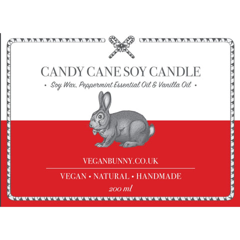Candy Cane Soy Candle - Soy Candle