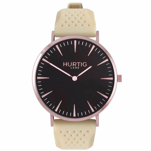Classic Attivo Mens Watch - Rose Gold / Black / Cream - Watch