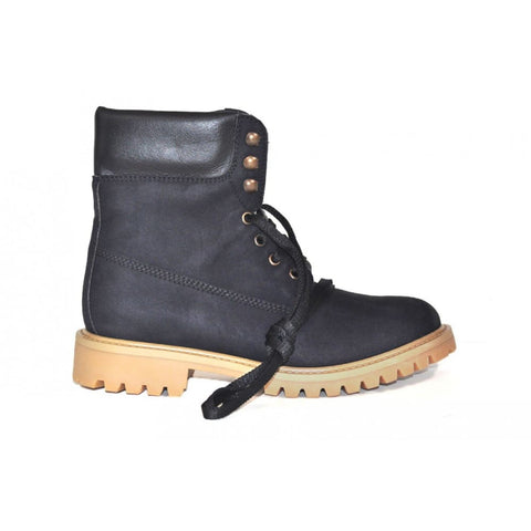 Claudia and Claudio Suede - unisex boots - 2.5 UK / 35 EU / 3.5 USM / 4.5 USF / Blue - Boots