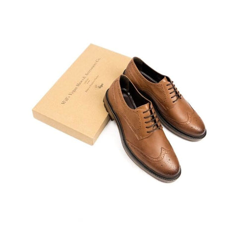 Continental Brogues - Tan - Shoes
