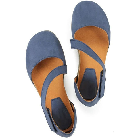 Cross-Over Strap Footbeds - Cobalt - Sandals