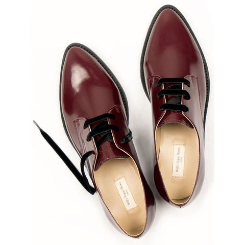 Deluxe Derbys - Wine - Shoes