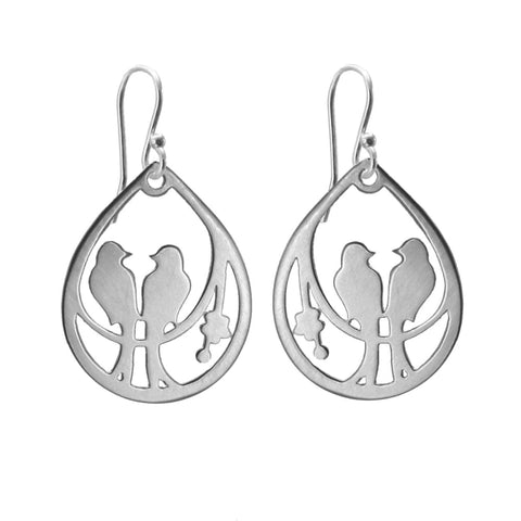 Drop Lovebird Earrings - Earrings