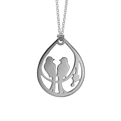 Drop Lovebird Necklace - Necklaces