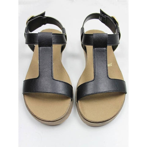 Footbed Sandals - Black - Sandals