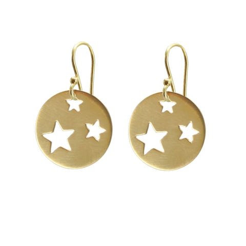 Gold Plated Star Earrings - Small - Earrings
