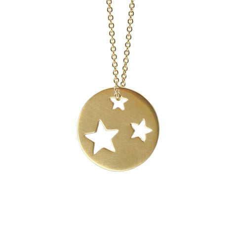 Gold Plated Star Necklace - Small - Necklaces