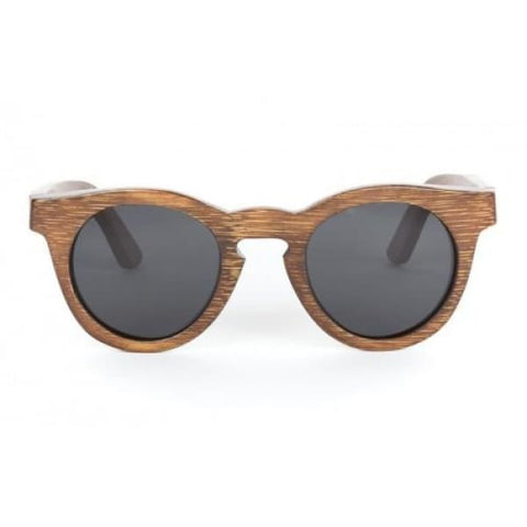 Hepburn - Brown Bamboo Sunglasses - Sunglasses