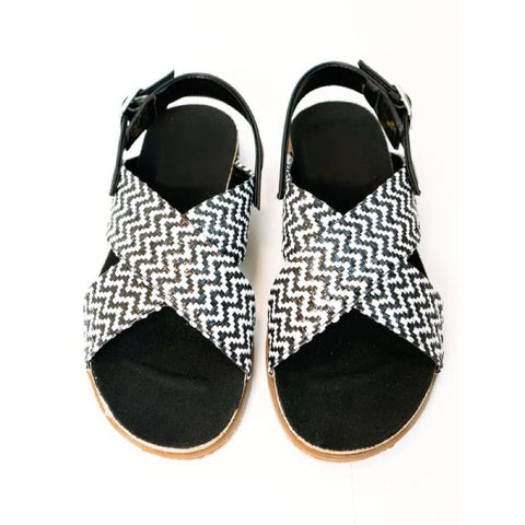 Huarache Footbeds - Black & White - Sandals