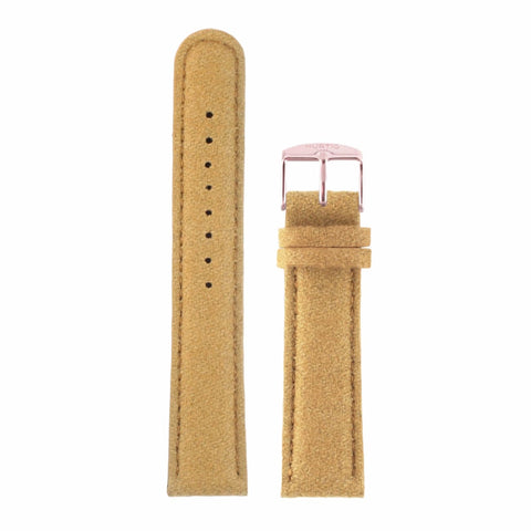 Hymnal Camel Tweed - Multi-Colour Buckle - Rose Gold - Watch Strap