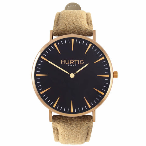 Hymnal Mens Watch - Gold / Black / Camel - Watch