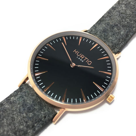 Hymnal Mens Watch - Rose Gold / Black / Grey - Watch