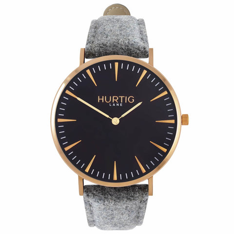 Hymnal Womens Watch Tweed - Gold / Black / Grey - Watch