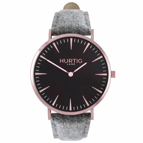 Hymnal Womens Watch Tweed - Rose Gold / Black / Grey - Watch