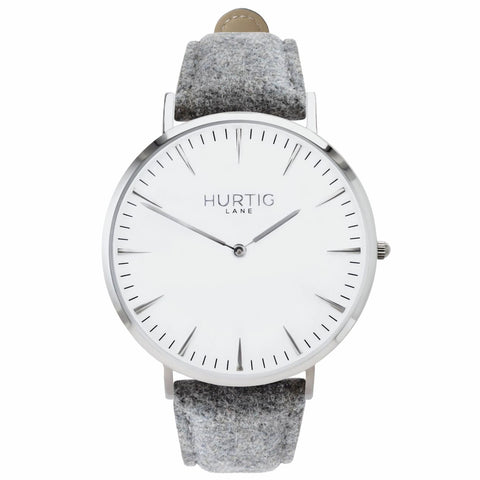 Hymnal Womens Watch Tweed - Silver / White / Grey - Watch