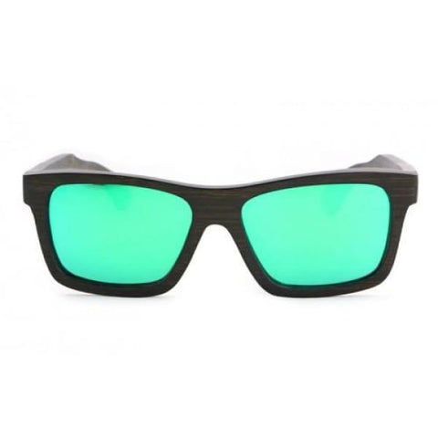 Kennedy - Brown (Green Revo) Bamboo Sunglasses - Sunglasses