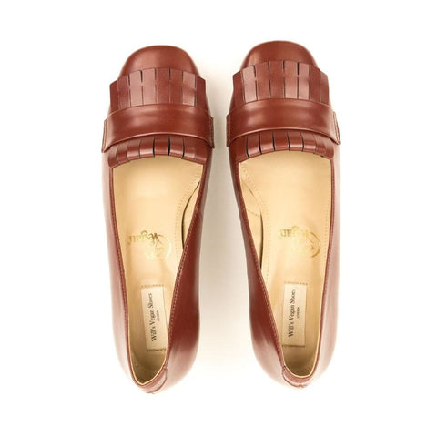 Kilted Block Heels - Brown - Shoes