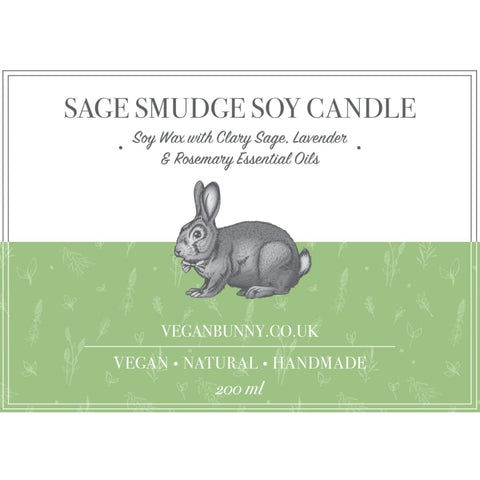 Lavender and Sage Soy Candle - Soy Candle