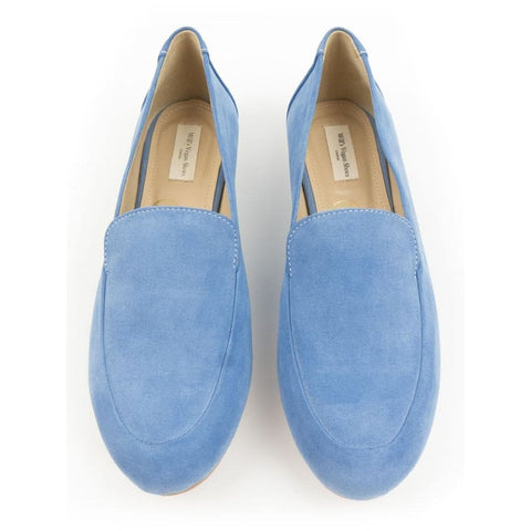Loafers - Blue Vegan Suede - Shoes