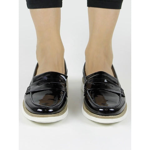 Loafers - Patent Black - Shoes