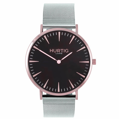 Lorelai Mens Watch - Rose Gold / Black / Silver - Watch