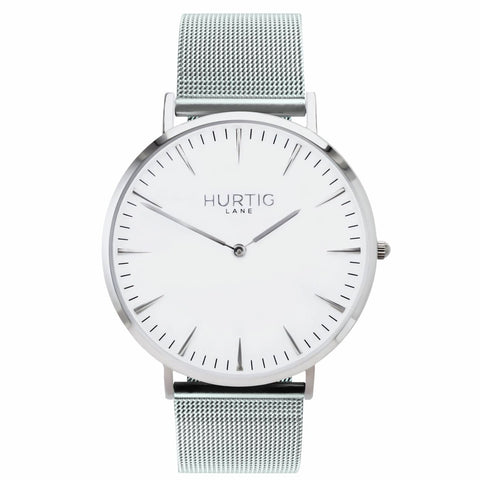 Lorelai Mens Watch - Silver / White / Silver - Watch