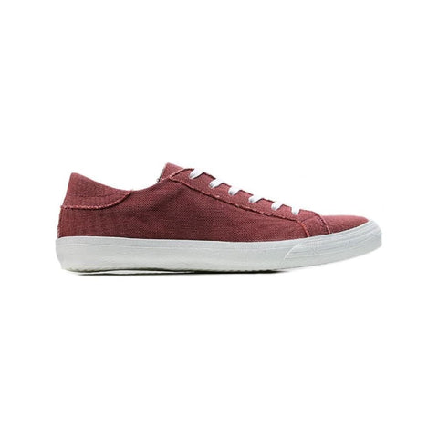 Low Sneakers - Wine Canvas - Shoes