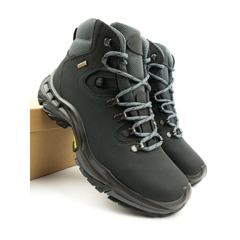 Mens Waterproof Hiking Boots - Black - Boots