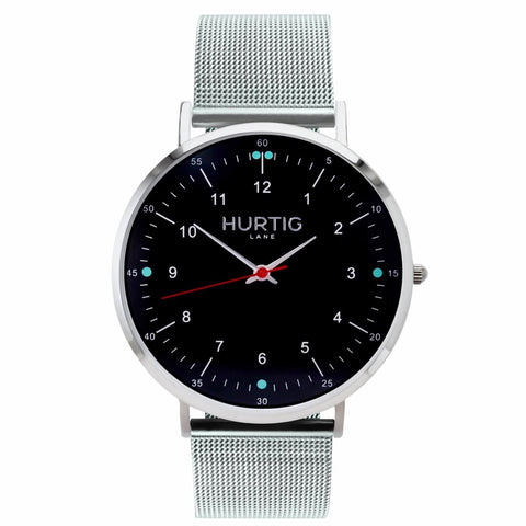 Moderno Mens Watch Steel - Silver / Black / Silver - Watch